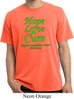 Lymphoma Cancer Hope Love Cure Pigment Dyed T-shirt