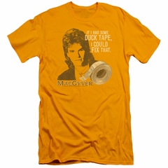MacGyver Slim Fit Shirt Duct Tape Gold T-Shirt