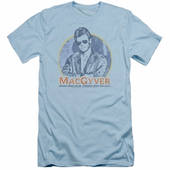MacGyver Slim Fit Shirt Title Light Blue T-Shirt