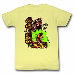 Macho Man Shirt Retro Picture Light Yellow T-Shirt