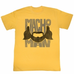 Macho Man Shirt The Beard Gold T-Shirt