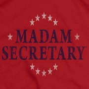 Madam Secretary Distressed Logo Shirts