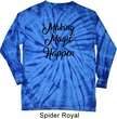 Making Magic Happen Black Print Long Sleeve Tie Dye Shirt