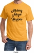 Making Magic Happen Black Print Shirt