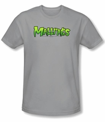 Mallrats T-shirt Movie Mallrats Logo Adult Silver Slim Fit Shirt