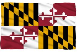 "Maryland Flag Fleece Blanket - 36"" X 58"""