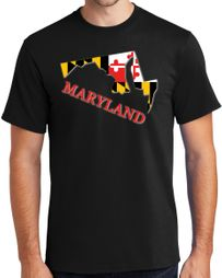 Maryland MD State Flag t-shirt - Regular, Big and Tall Sizes