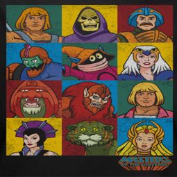 Masters Of The Universe Character Heads Shirts