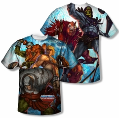Masters Of The Universe Heroes And Villains Sublimation Shirt Front/Back Print