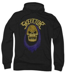 Masters Of The Universe Hoodie Sweatshirt Skeletor Hood Black Adult Hoody
