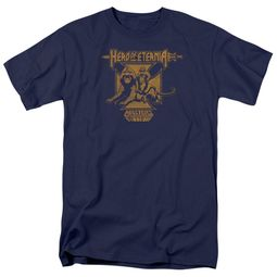 Masters Of The Universe Shirt Hero Of Eternia Adult Navy Tee T-Shirt