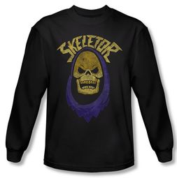 Masters Of The Universe Shirt Skeletor Hood Long Sleeve Black Tee