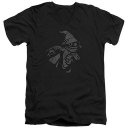 Masters Of The Universe Shirt Slim Fit V Neck Orko Clout Black Tee T-Shirt