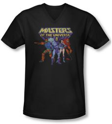 Masters Of The Universe Shirt Slim Fit V Neck Team Of Villains Navy Tee