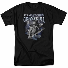 Masters Of The Universe Shirt Straight Outta Grayskull Adult Black Tee T-Shirt