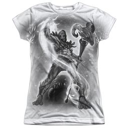 Masters Of The Universe Skeletor B&W Sublimation Juniors Shirt