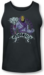 Masters Of The Universe Tank Top Skeletor Charcoal Tanktop
