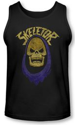 Masters Of The Universe Tank Top Skeletor Hood Black Tanktop