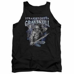 Masters Of The Universe Tank Top Straight Outta Grayskull Black Tanktop