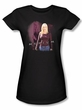 Medium Juniors Shirt Portrait Black T-Shirt