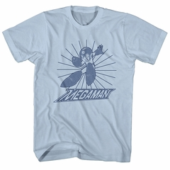 Mega Man Shirt Burst Light Blue T-Shirt
