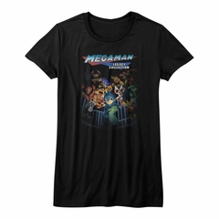 Mega Man Shirt Juniors Legacy Collection Black T-Shirt