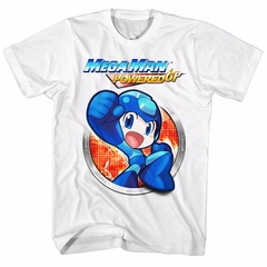 Mega Man Shirt Powered Up White T-Shirt