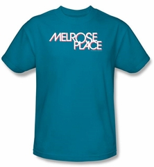 Melrose Place Kids Shirt Logo Youth Turquoise T-Shirt