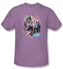 Melrose Place Shirt Original Cast Distressed Lavender T-Shirt