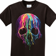 Melting Skulls Kids Halloween Shirts
