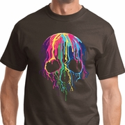 Melting Skulls Mens Halloween Shirts
