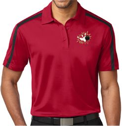 "Men's ""Bowling Pins Crashing"" Premium Polo Shirt"