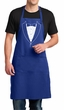 Mens Apron Basic White Tuxedo Full Length Apron with Pockets