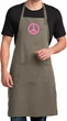 Mens Apron Pink Peace Full Length Apron with Pockets