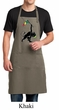 Mens Apron Rasta Triangle Full Length Apron with Pockets