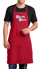 Mens Apron Say My Name Full Length Apron with Pockets
