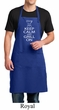 Mens Apron White Keep Calm Grill On Full Length Apron with Pockets