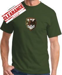 "Mens ""Army Patch"" T-shirt - Olive Green"