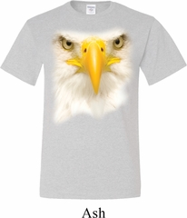 Mens Bald Eagle Shirt Big Bald Eagle Face Tall Tee T-Shirt