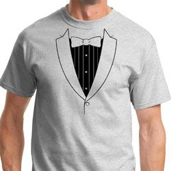 Mens Basic Black Tuxedo Shirts