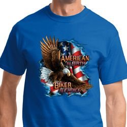 Mens Biker Shirt American By Birth Tee T-Shirt