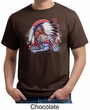Mens Biker Shirt Big Chief Indian Motorcycle Biker Organic Tee T-Shirt