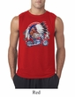 Mens Biker Shirt Big Chief Indian Motorcycle Biker Sleeveless Tee T-Shirt