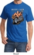 Mens Biker Shirt Built To Last Tee T-Shirt
