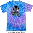 Mens Biker Shirt Chopper Cross Skeleton Twist Tie Dye Tee T-shirt
