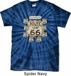 Mens Biker Shirt Get Your Kicks Spider Tie Dye Tee T-shirt