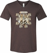 Mens Biker Shirt Get Your Kicks Tri Blend V-neck Tee