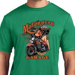 Mens Biker Shirt Motorhead Garage Moisture Wicking Tee
