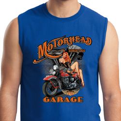Mens Biker Shirt Motorhead Garage Muscle Tee T-Shirt