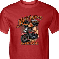Mens Biker Shirt Motorhead Garage Tall Tee T-Shirt